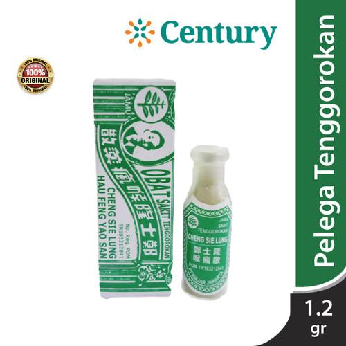 Foto Produk HAU FUNG SAN, OBAT SAKIT TENGGOROKAN 1,2GR / TENGGOROKAN / SARIAWAN dari CENTURY HEALTHCARE