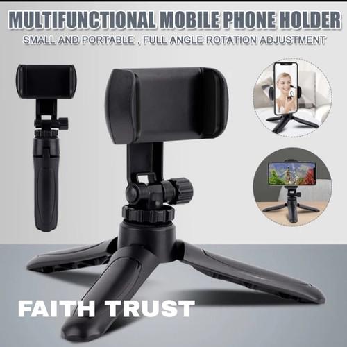 Foto Produk Tripod Mini + Holder U Extendable for Handphone Strong Tripod - Tripod mini dari Faith Trust