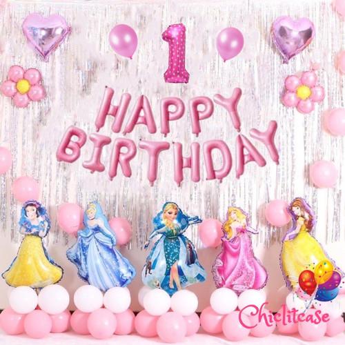 Foto Produk Set paket balon princess premium dekorasi happy birthday ulang tahun - umur 9 dari chic lit case