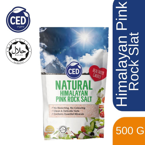 Foto Produk 500 gr CED Natural Himalayan Pink Rock Salt Garam Himalaya dari Chayo_Store