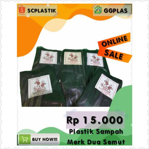 Foto Produk Plastik Sampah Hitam Dua Semut 90cm x 120cm berat 1 Kg - Hitam, 40 x 60 dari GGPlas