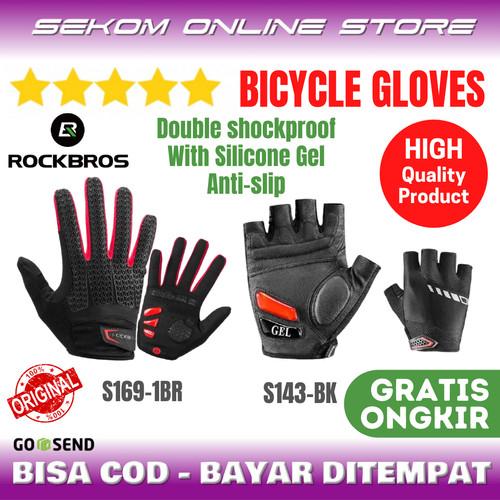 Foto Produk ROCKBROS Gloves Gel Sarung Tangan Sepeda Original dari SEKOM ONLINE STORE
