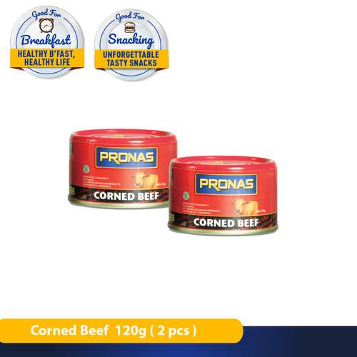 Foto Produk Pronas Kornet Sapi Regular (Kemasan Kaleng EOE) 120 g (Bundling 2 pcs) dari Pronas Official Store