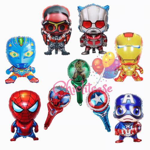 Foto Produk Balon foil karakter ultraman superhero iron captain spidey anak - Spiderman dari chic lit case