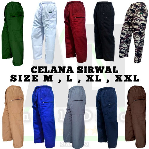 Foto Produk Celana Sirwal Dewasa Murah Terlaris M,L,XL,XXL / Celana Pangsi Dewasa - Abu-abu, L dari Angel_Draco Store
