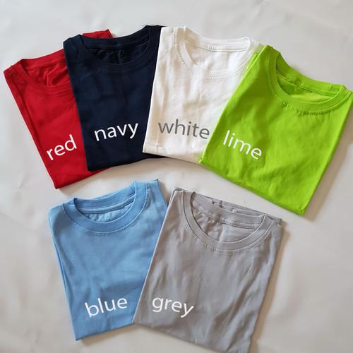 Foto Produk [PREMIUM] Kaos Polos Anak Cotton Combed 30s - White, Size 5 dari Little Orca