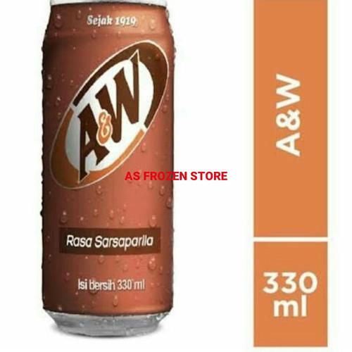 Foto Produk AW Rootbeer / A&W Root Beer/ AW Root Beer Sarsaparila 1dus 24pcs 330ml dari AS Frozen Store