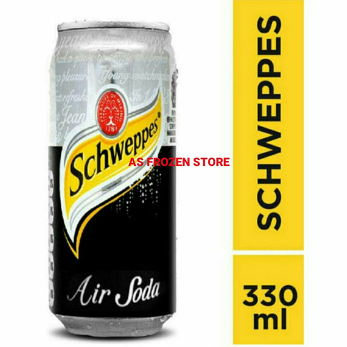 Foto Produk Schweppes Soda Water 330ml / Schwepper Air Soda 330ml 1dus 24pcs dari AS Frozen Store