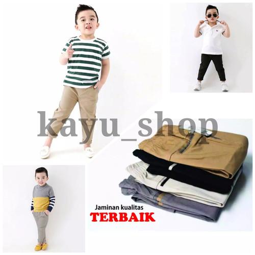 Foto Produk Celana panjang anak laki laki 4 5 6 7 8 9 10 11 12 tahun celana chino - 5-6 tahun, Krem dari kayu shop