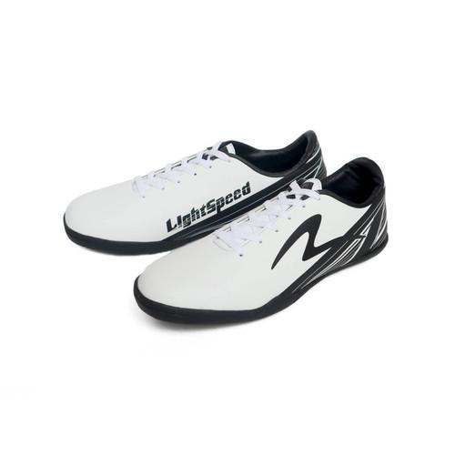 Foto Produk SEPATU FUTSAL PRIA SPECS PUTIH HITAM 44-47 JUMBO - Putih, 44 dari WAT   Footwear