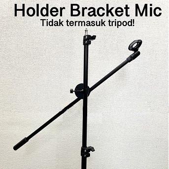 Foto Produk Holder Stick Mic Microphone Stick Holder Bracket Microphone Stand dari mofan accesories