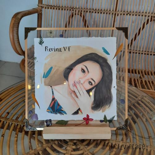 Foto Produk Kado Lukis Frame Akrilik Pressed Flower - 1 wajah dari inci_vintage