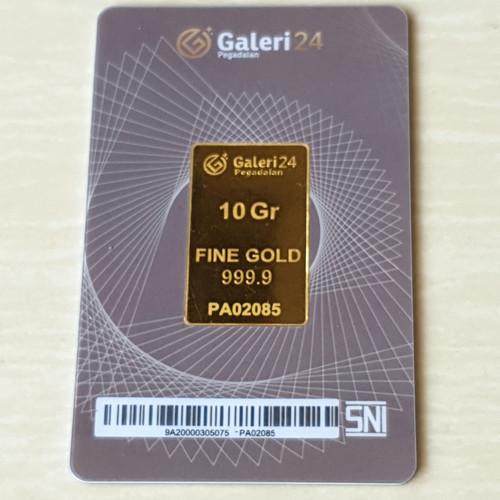 Foto Produk Logam Mulia 10 gram Galeri 24 Pegadaian dari Antam Pedia