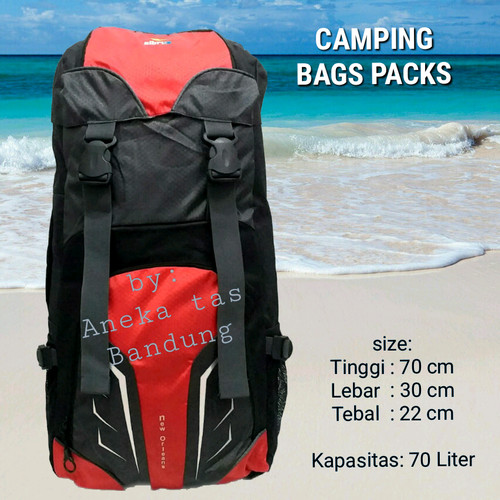 Foto Produk Tas ransel gunung (FREE RAINCOVER)-Tas camping-Tas carrier-Tas mudik - Merah dari gudang tas 1000