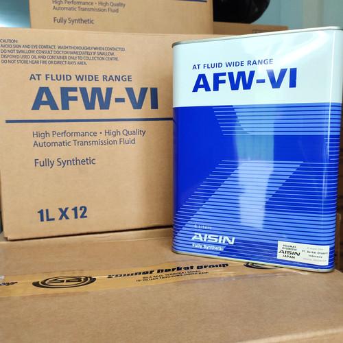 Foto Produk Oli Aisin AFW VI Dextron 6 Auto Matic Transmisi FULLY SYNTHETIC 4 ltr dari Indo Utama Otoparts