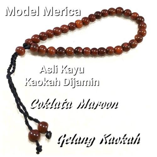 Foto Produk Gelang Kayu Asli Kokka Kaokah Kokah Bulat Coklat Merica 6mm dari Poetra Gems Stone