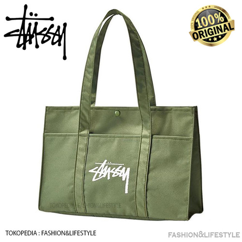 Foto Produk Stussy Military Green Tote Bag 100% Original Stussy from Japan dari Fashion&LifeStyle