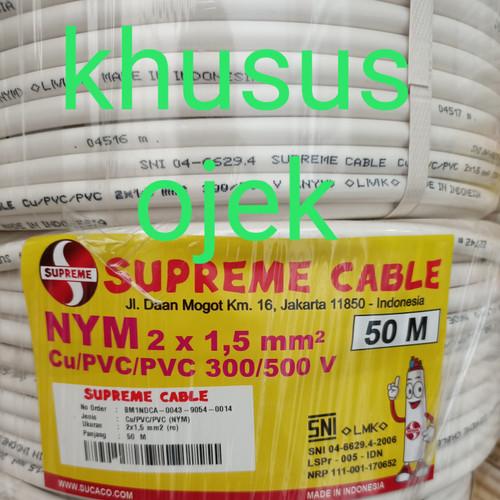 Foto Produk KABEL LISTRIK / POWER 2X1.5 NYM SUPREME dari CENTRAL INDAH TEHNIK