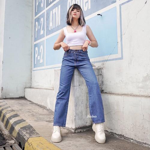 Foto Produk JINISO - Highwaist Loose Jeans 815- 825 HANGOVER - 28 dari JINISO.ID