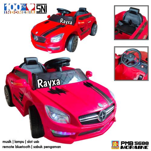 Foto Produk mobil aki anak pmb m 5688 moraine merah dengan remote bluetooth dari rayxa collection
