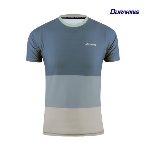 Foto Produk DK Daily Active Wear Tri Colors Shirt Blue - Regular Fit - M dari Duraking Outdoor&Sports