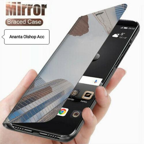 Foto Produk Flip Case OPPO RENO 4 RENO4 Clear View Standing Mirror Full Cover - Ungu dari Ananta olshop acc
