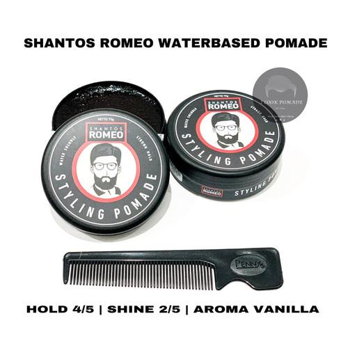 Foto Produk SHANTOS ROMEO STYLING POMADE WATERBASED STRONG HOLD 2.6 OZ SUDAH BPOM dari Ilookpomade
