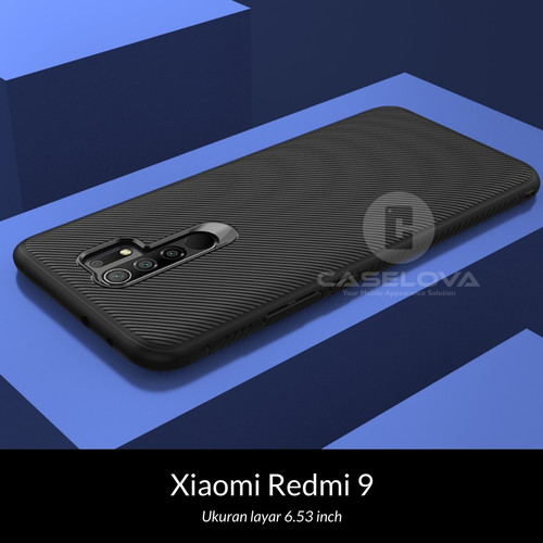Foto Produk Case Xiaomi Redmi 9 Evoskin Anti Skid Silicone - Hitam dari Caselova Store