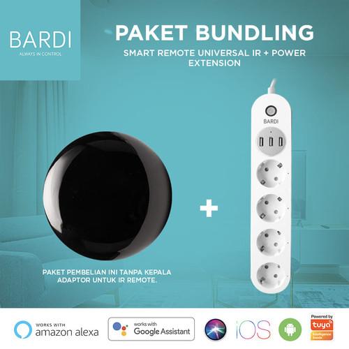 Foto Produk Bundling Ir Remote (Tanpa kepala adaptor) + Extension Power Strip dari Bardi Official Store