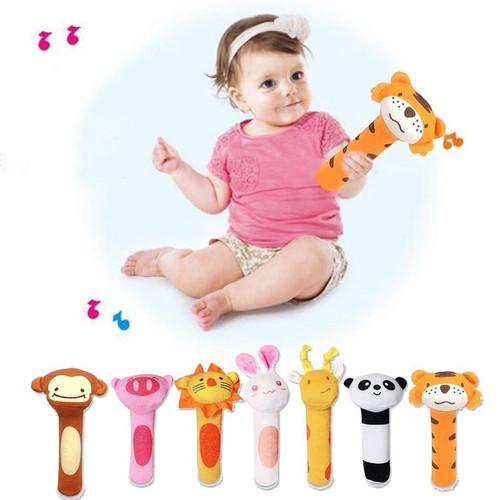 Foto Produk Mainan Tangan Genggam Bayi Bunyi / Stick Hand Rattle Toy Baby - LION dari Levin Mart Sunter