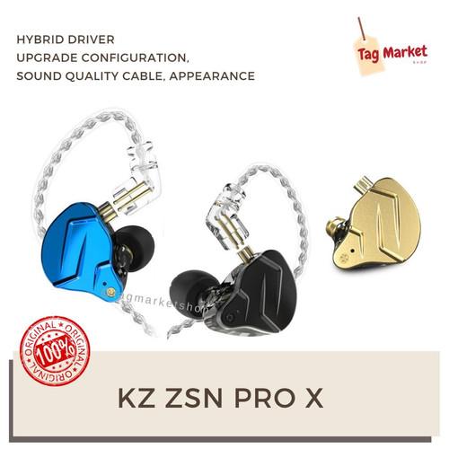 Foto Produk KZ ZSN Pro X Hybrid 1BA+1DD HIFI Bass In Ear Earphone CCA Blon - Emas dari Tag Market Shop