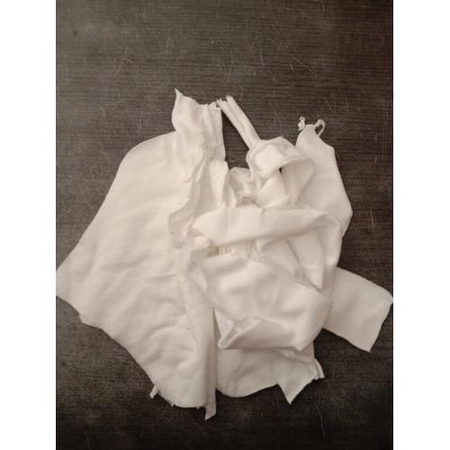 Foto Produk Kain Majun Putih Polos Potongan Campuran 100gr dari BKO Wooden shop