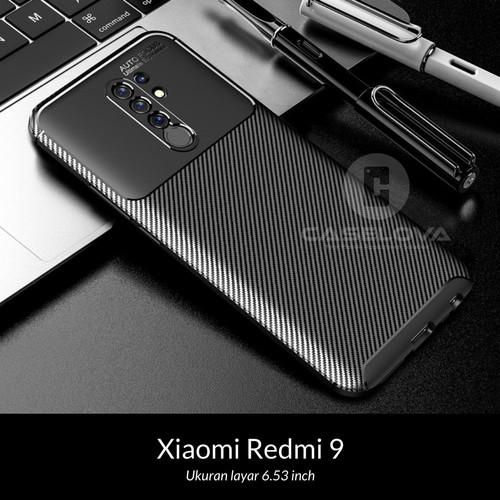 Foto Produk Case Xiaomi Redmi 9 Synthetic Fiber Protective Carbon - Hitam dari Caselova Store