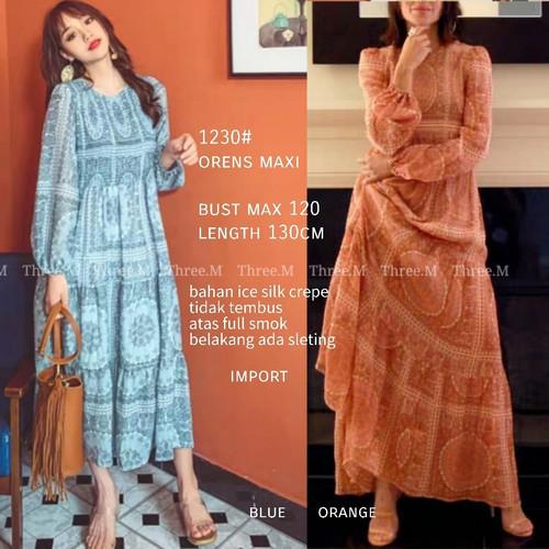Foto Produk Ginna Orange Maxi Dress Import 1230 - Orange dari PiStar Women