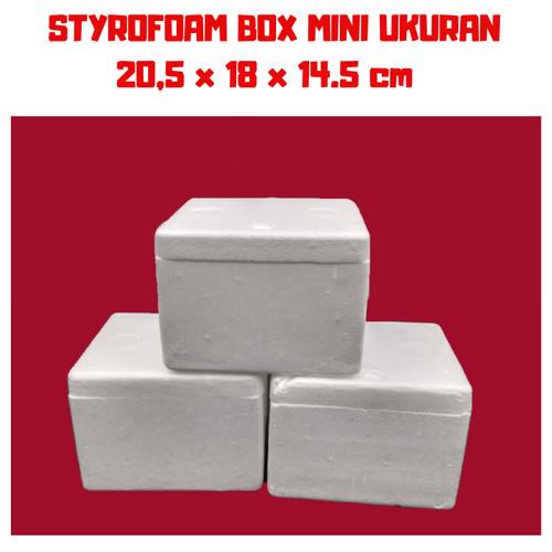 Foto Produk STEROFOAM BOX MINI 3 LITER UKURAN 20 x 18 x 14 cm dari master ikan