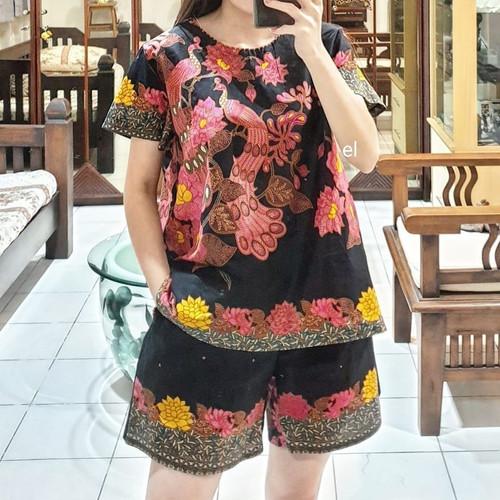 Foto Produk Unggul Batik Setelan Celana Pendek Atasan Wanita dari Batik Awe Collection