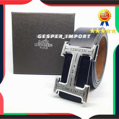 Foto Produk GESPER COWOK HERMESS MODEL TUSUK IKAT PINGGANG PRIA LOGO H TALI ASLI dari gesper_import