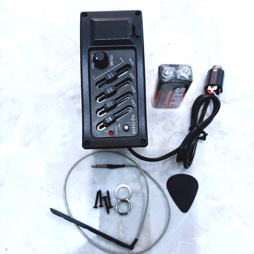Foto Produk preamp EQ 7545 R - pick up gitar akustik Eletrik - Equalizer 7545R dari Tangerang Music