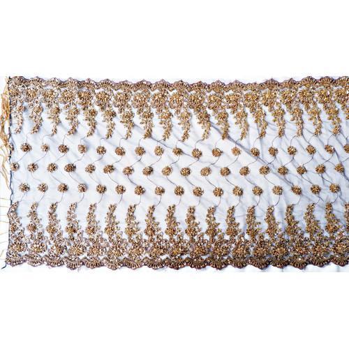 Foto Produk Selendang/Kerudung Pengantin Payet Handmade Gold Bronze - Bordir dari jakahong studio