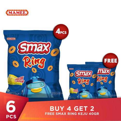 Foto Produk Buy 4 Get 2 Free SMAX Ring Keju 40gr dari Mamee Indonesia