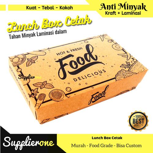 Foto Produk LUNCH BOX/ LUNCH BOX PAPER / PAPER LUNCH BOX / LUNCH BOX CETAK - M dari supplierone