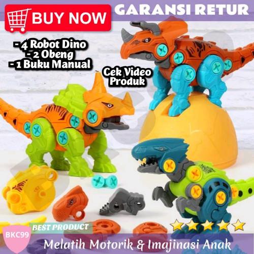Foto Produk E61 Mainan Edukasi Anak Laki Laki Robot Dinosaurus Dino Binatang Murah dari BKC99