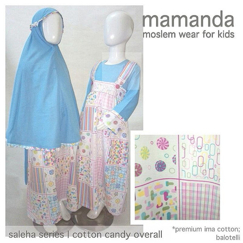 Foto Produk Gamis Anak Cotton Candy Overall Size S Saleha Series by Mamanda dari kedai berkah