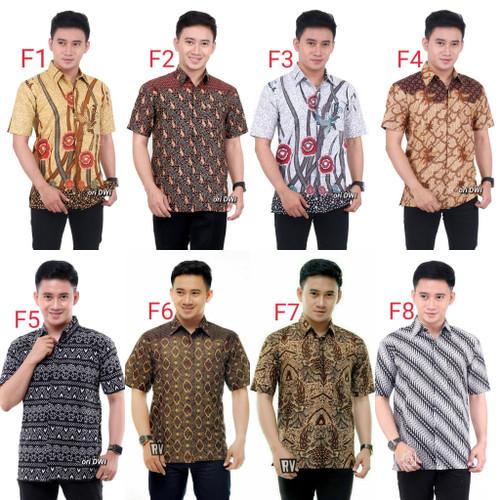 Foto Produk baju batik pria kemeja batik lengan pendek dewasa dari Batik ilmiyah96