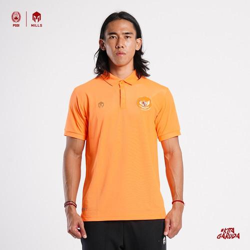 Foto Produk MILLS Timnas Indonesia Garuda Poloshirt 1701GR Orange, Charcoal, Green - Orange, XXL dari MILLS Official