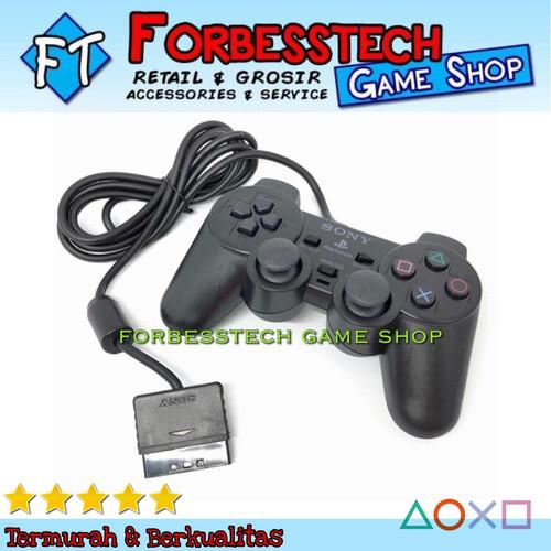 Foto Produk Stik Stick Joystick Gamepad Sony PS2 Playstation 2 Kabel TW - Hitam dari Forbesstech game shop