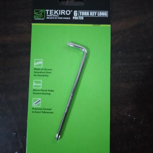 Foto Produk TEKIRO kunci L BINTANG T25 torx key long ORIGINAL dari johanesy