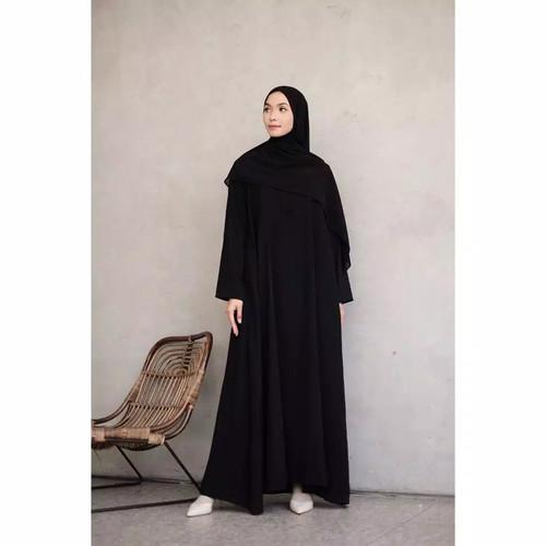Foto Produk Abaya Polos Hitam turkey Dubai Arab Abaya Hitam Bordir - Hitam, S dari Noer Boutique Of Abaya