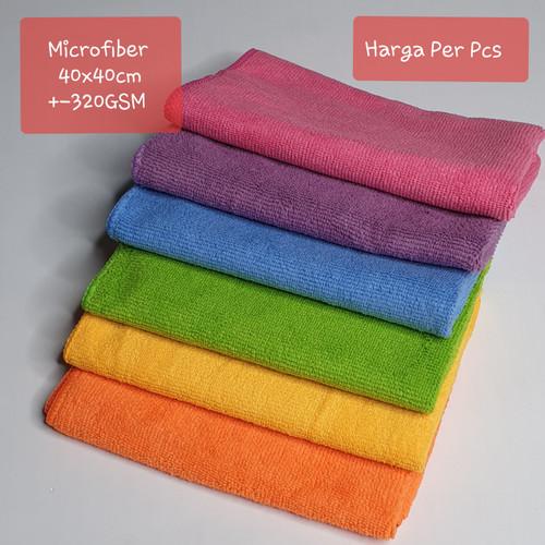 Foto Produk Kain Lap Handuk Microfiber Uk 40cm x 40cm - Kuning dari Plasa Promosi