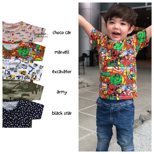 Foto Produk Kaos Printed Button 2, 3, 4 th / Kaos Anak Murah / Printed Tee Murah - S dari AnviNia Baby OS